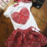 Olivia Paige - Cute Little pin up baby bandana outfit bodysuit with skirt bandana headband 3pcs