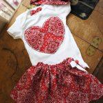 Olivia Paige - Cute Little pin up baby bandana outfit bodysuit with skirt bandana headband 3pcs