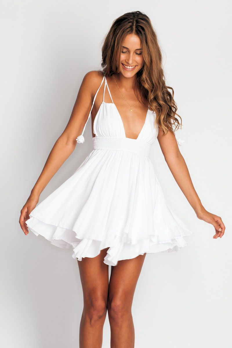 One of our favorites at Soleil Blue ♥ Indah Ophelia Dress in white www.soleilb…