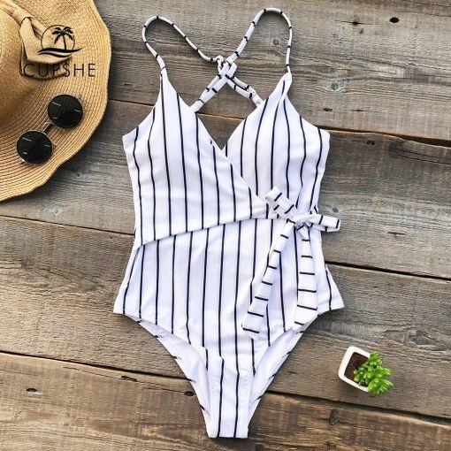 One-piece Swimsuit Deep V neck Summer Sexy Backless Bikini Set Ladies Beach Bathing Suit Swimwear