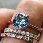 Oval rose quartz engagement ring Rose gold engagement ring diamond Half eternity wedding Bridal Anniversary Valentine's Day Gift for women - Fine Jewelry Ideas