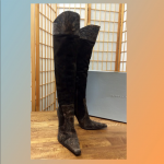 Over knee Gianmarco Lorenzi Brown Suede Boots Worn once over the knee chocolate ...