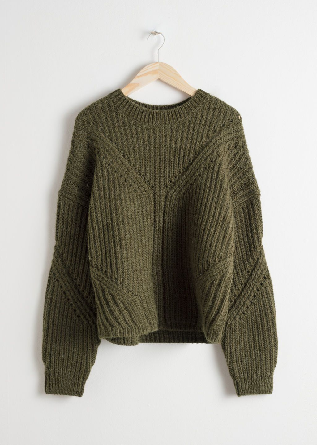 Oversized Curved Knit Sweater