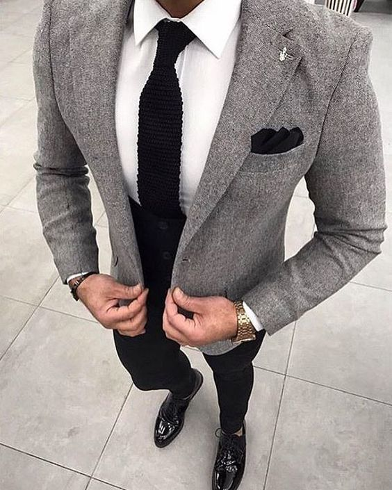 Pair a grey wool coat with black pants if you're going for a neat, stylish look….