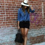 Panama | Madewell Shirt + Shorts, Aritzia Hat, Céline Black Phantom Bag | by Si...