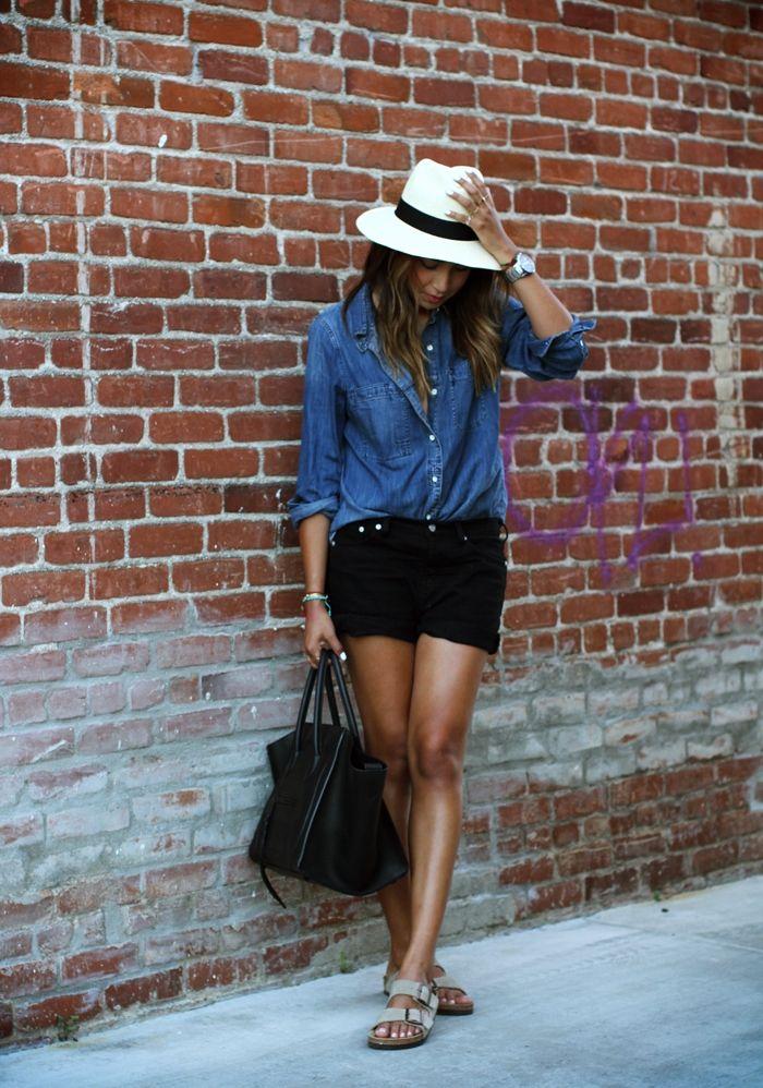 Panama | Madewell Shirt + Shorts, Aritzia Hat, Céline Black Phantom Bag | by Si…
