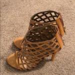 Parisian Gladiator Shoes Parisian Gladiator sandal heels shoes. Size 7. Never be...