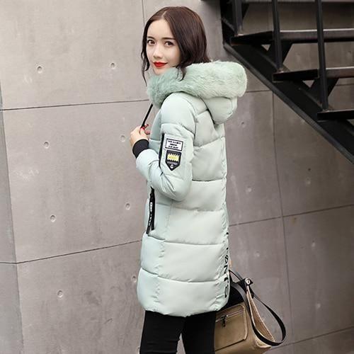 Parka Women Winter Coats Long Cotton Casual Fur Hooded Jackets Women Thick Warm Winter Parkas Female Overcoat Coat 2019 MLD1268 – Multi M