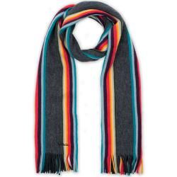 Paul Smith Artist Twisted Block Wool Scarf Black Paul SmithPaul Smith