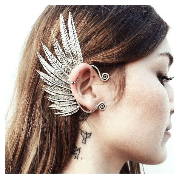 Pegasus Ear Cuff ❤ liked on Polyvore featuring jewelry, earrings, ear cuff jew…