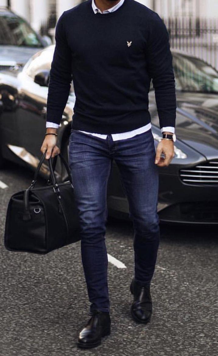 Perdez le sac et un jean skinny et c'est une excellente combinaison! #Art …