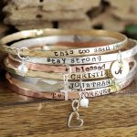 Personalized Bangle Bracelets - with Charms