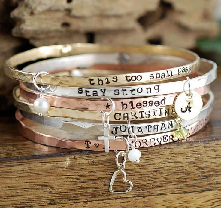 Personalized Bangle Bracelets – with Charms