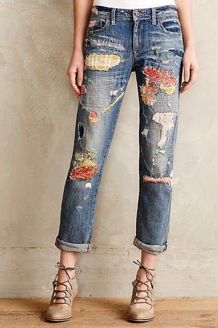 Pilcro Premium Hyphen Sweater-Patch Jeans – anthropologie.com #anthrofave #anthr…