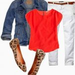 Pinterest Told Me To Wear Orange, White, Denim, and Leopard.......Pinterest is So Dang Smart