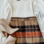 Plaid Beige Plaid Mini Skirt