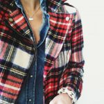 Plaid jacket, chambray
