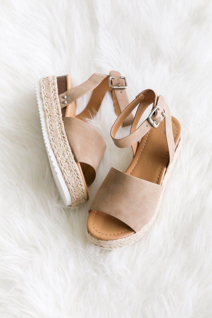 Platform Espadrilles Sandals Open Toe