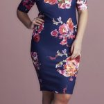 Plus Size Curve Bodycon Floral Dress