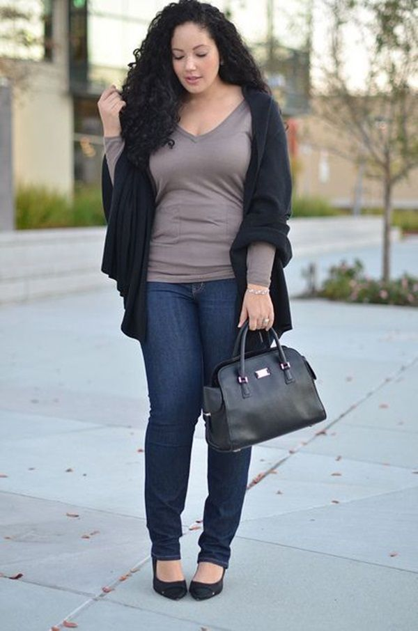 Plus Size Fashion Blogger, Plus size street style looks www.justtrendygir…,
