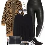 Plus Size Leopard Cardigan Outfit Ideas - Alexa Webb
