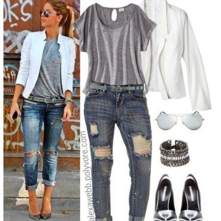 Plus Size Outfit Ideas – Plus Size Boyfriend Jeans