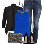 Plus Size Outfit - Night Out In Blue