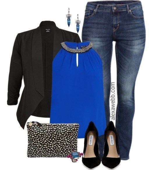 Plus Size Outfit – Night Out In Blue