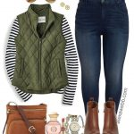 Plus Size Preppy Fall Outfit - Alexa Webb