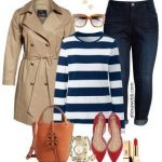 Plus Size Preppy Striped Top Outfit Ideas