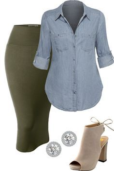 Plus size outfit from outfitsforlife.com Visit our website for more outfits like…