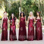 Popular Elegant Mismatched Sequin Tulle Long Wedding Party Bridesmaid Dresses, B...