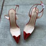 Public Desire Heart Cap Toe Heel Size 10 Perspex court shoes, featuring heart de...