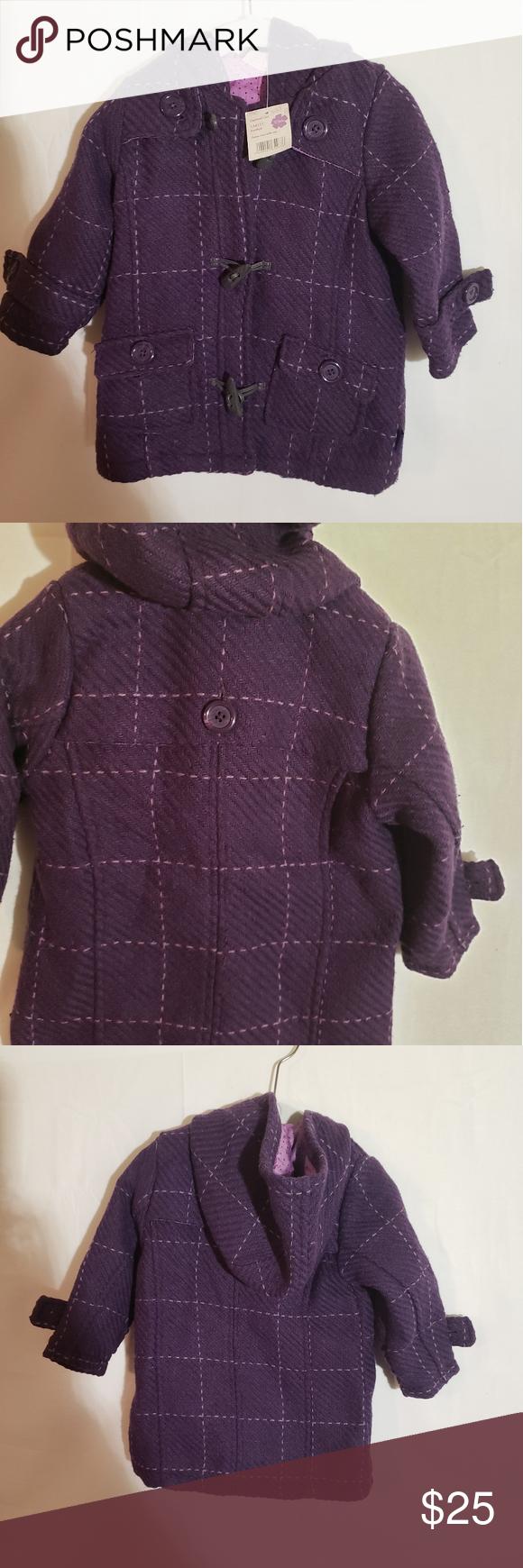 Pumkin Patch duffle coat.  K01 Punkin Patch Chelsea check duffle coat  12- 18 mo…