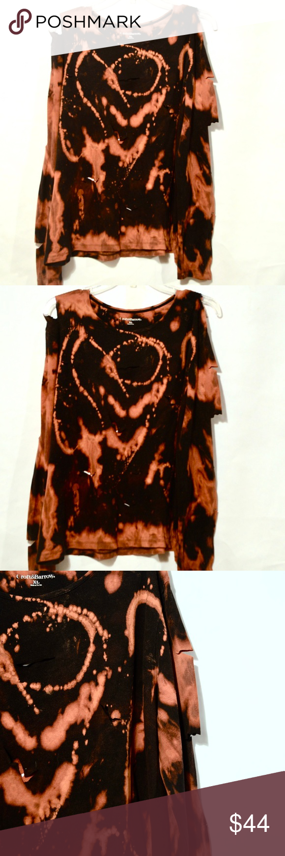Punk Rock Grunge Altered Cotton Shirt Black Holes Thank you for looking at this …