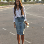 Pure Style by Erika: Denim Midi Skirt