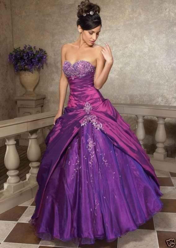 Purple Rose Fantasy Nails