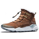 RAX Men's Outdoor Anti-Slip Waterproof Snow Boot with Fur Lined Winter Warm Shoes Chocolate
