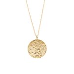 Radiance coin necklace (14k-gold-plated)