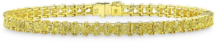 Rahaminov Diamonds 18k Radiant Fancy Yellow Diamond Tennis Bracelet