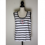 Ralph Lauren Striped Anchor Logo Tank Top Size 2X This top is perfect for summer...
