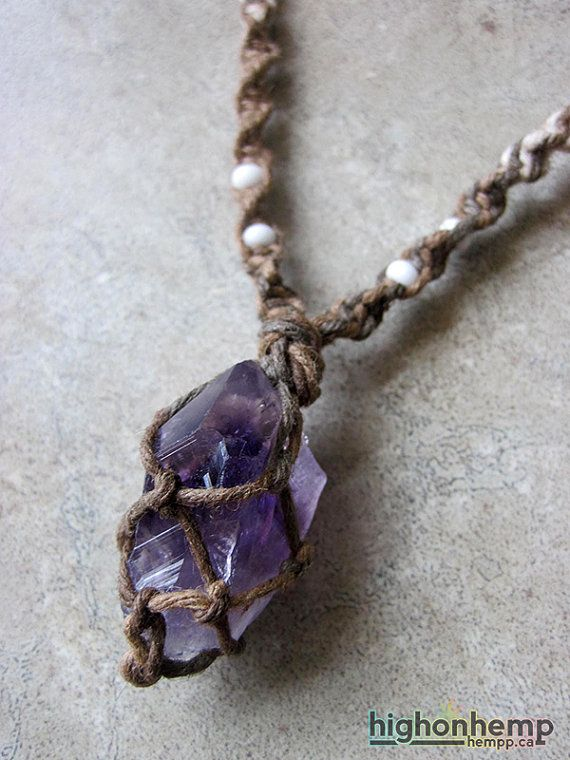 Raw Amethyst Necklace – Mothers Day Gift – Boho Jewelry – Raw Crystal Jewelry – February Birthstone – Reiki – Amethyst Crystal