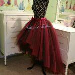 Red & Black Hi Lo Tulle Skirt, High Low Tutu Skirt, Festival Clothing, Cosplay Costume, Skirts Women, Costume, Wedding Skirt, Bridal Skirt