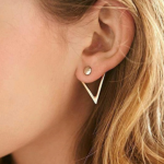Reserved Bundle Cute Geometric Triangle Stud Earrings                           ...
