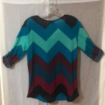 Rue 21 Chevron Print Roll Tab Sleeve Blouse Rue 21 Light Weight Chevron Print V ...