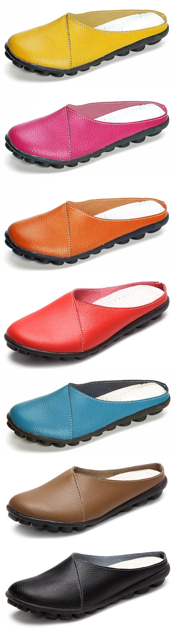 SOCOFY Big Size Pure Color Soft Sole Casual Open Heel Lazy Flat Shoes tmblr.co/….