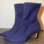 STUART WEITZMAN Blue ankle boots NWOT STUART WEITZMAN RAPTURE Blue Knit Stretch ...