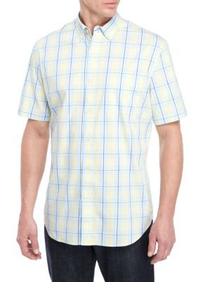 Saddlebred® Short Sleeve Wrinkle Free Tailored Fit Shirt