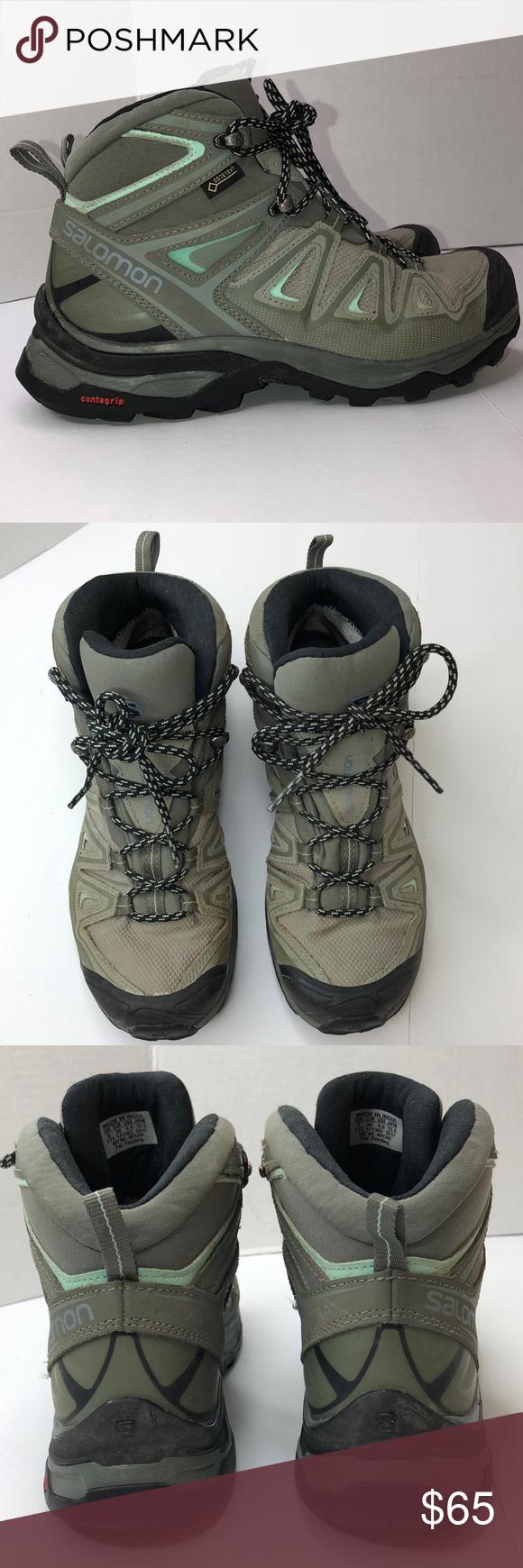 Salomon Gore-Tex X-Ultra  Mid hiking Boots size 5 Women's Salomon Gore-Tex X-U…
