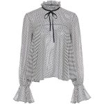 Saloni - Tyler Polka-Dot Ruffle Blouse (14.395 RUB) ❤ liked on Polyvore featur...